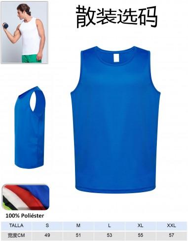 T1109-Camiseta sport tirante 100%...